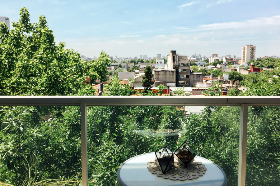 Overlooking the neighborhood of Palermo from Tonya's balcony in Buenos Aires.