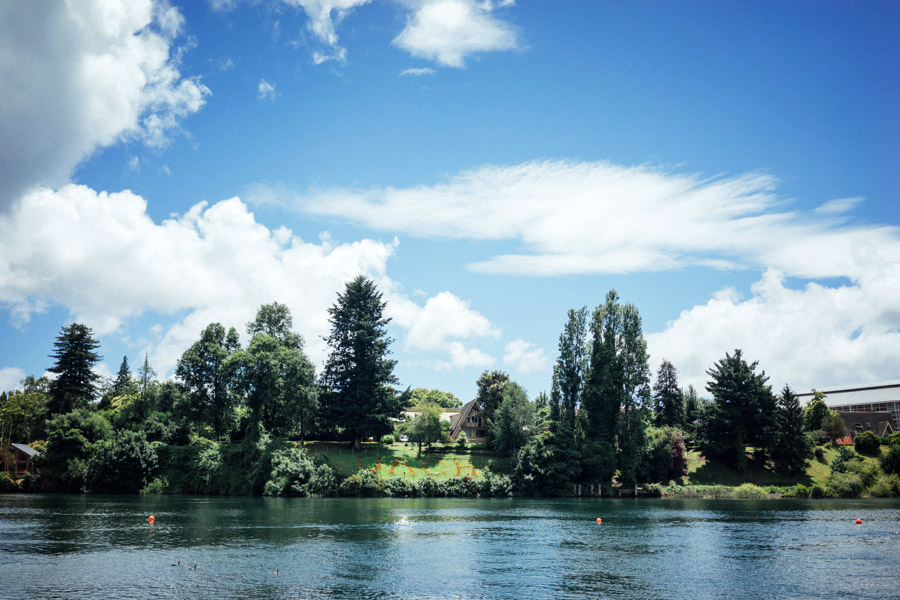 The quiet waters of Valdivia, Chile.