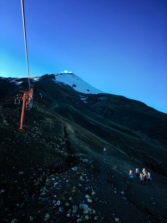 Enroute to the summit of Villarrica, at 2860m high.