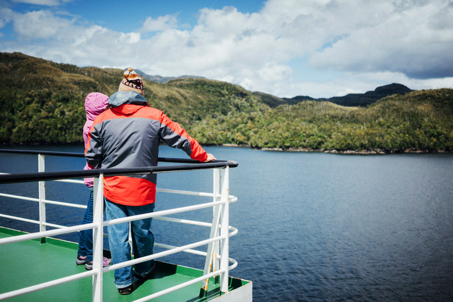 Like these shipmates, we could watch the views for days.