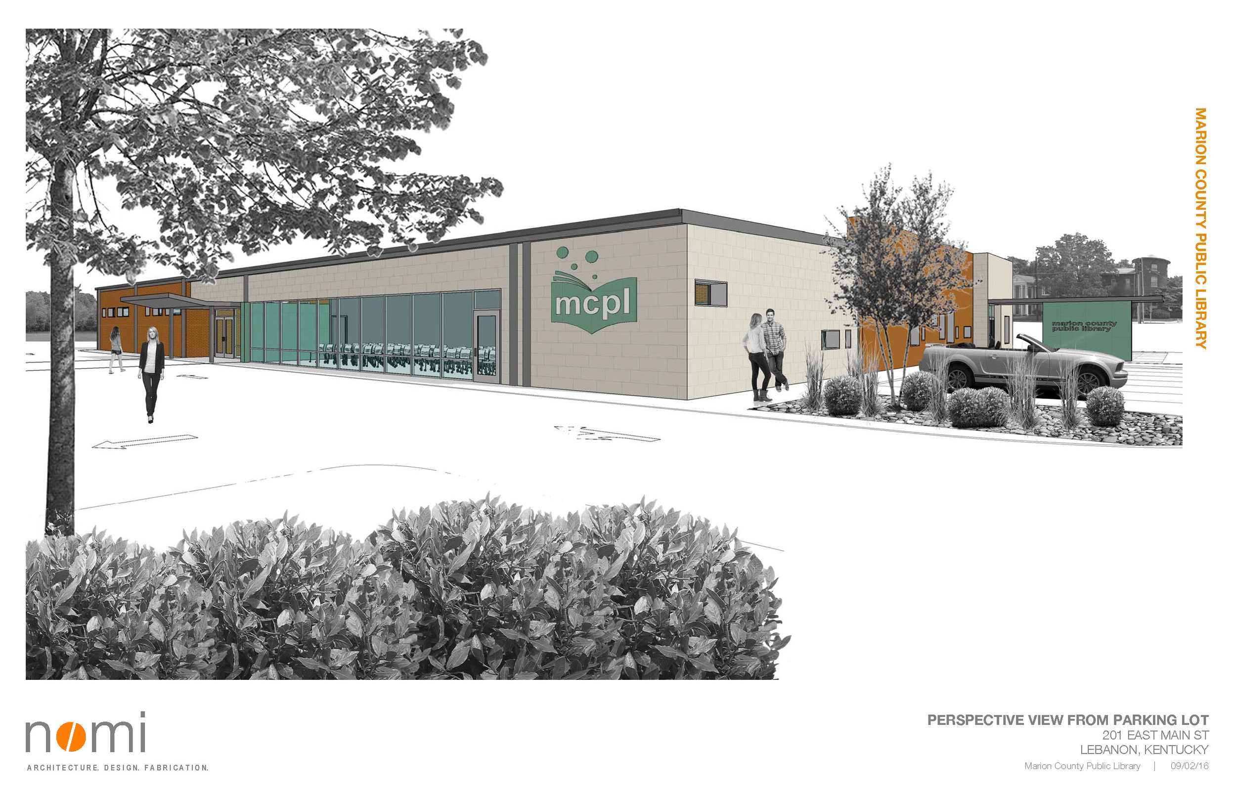 Harrison Street & Parking Facade Concept Study