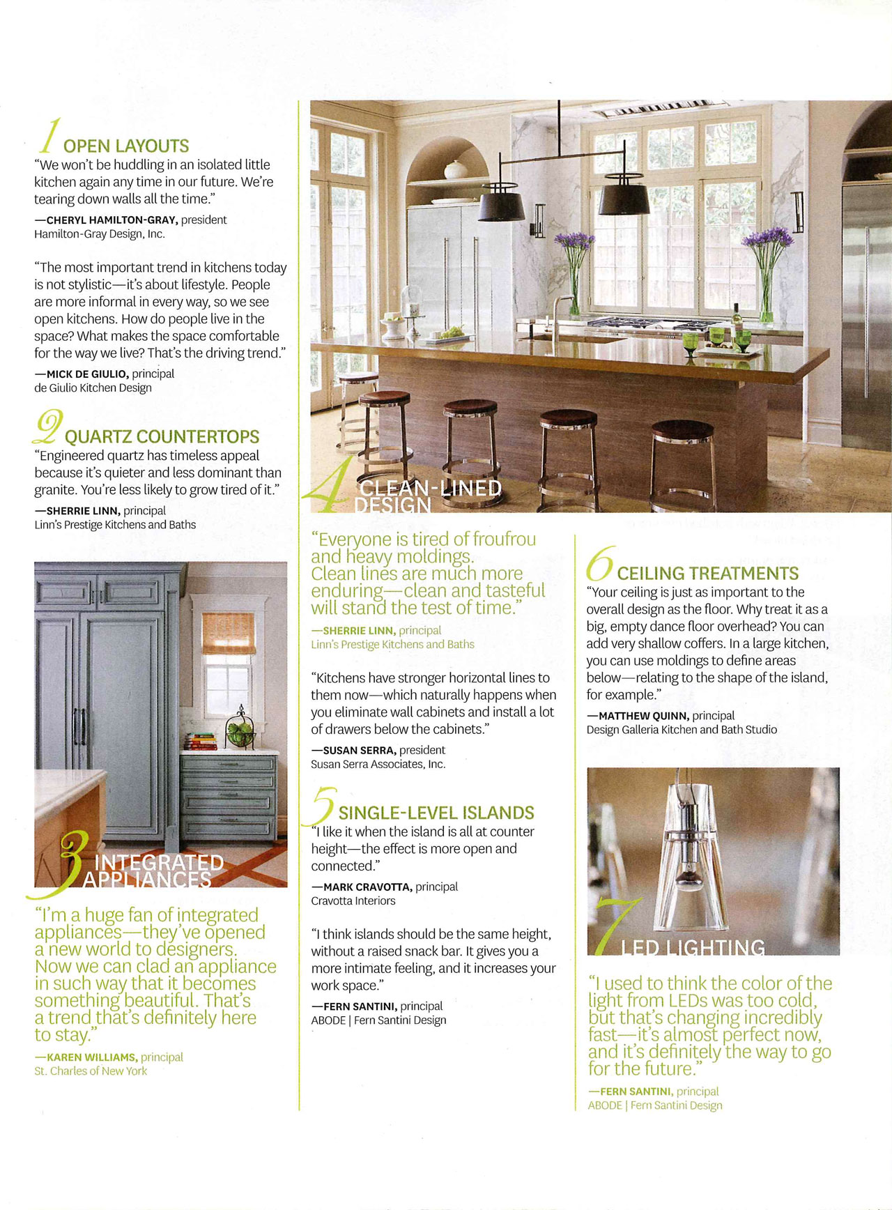 Beautiful Kitchens and Baths - Spring 2014 — FERN SANTINI