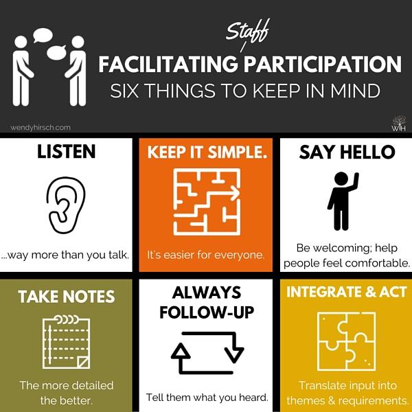 Facilitating Staff Participation