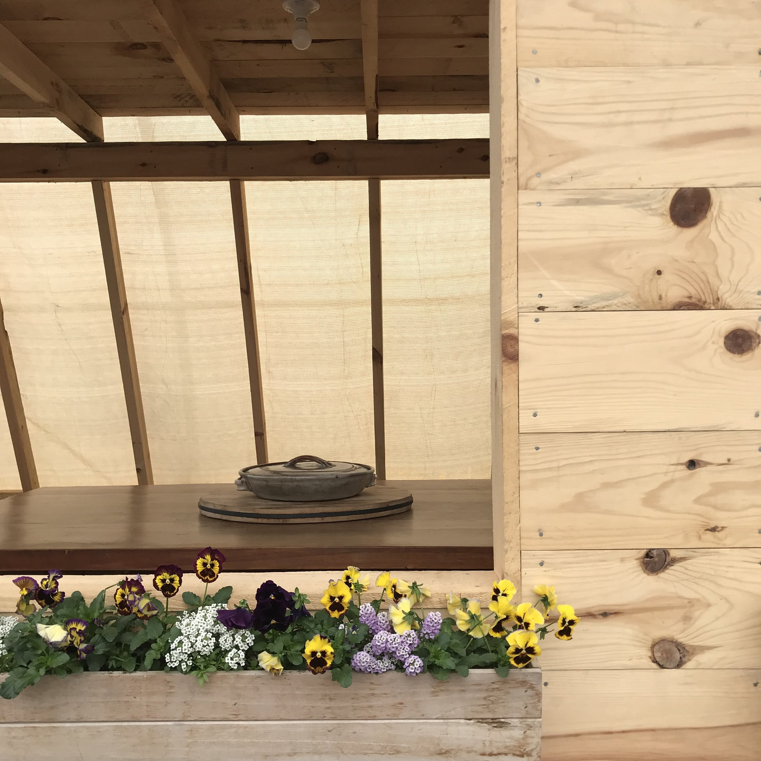 Welcoming space - The structure was created as a classroom for our gardening and cooking workshops and we are delighted to share it with you!