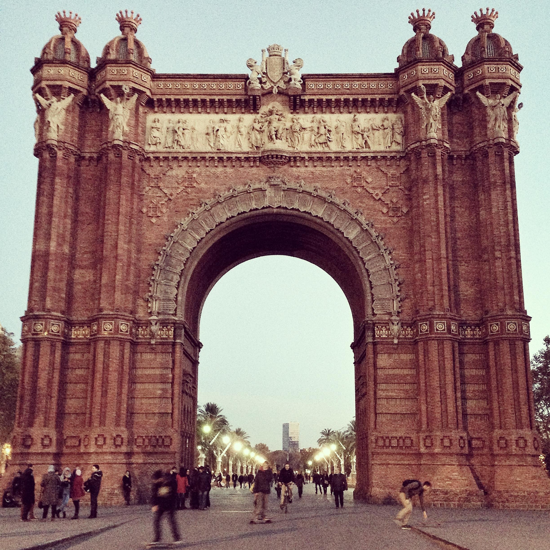 Arc de Triomf, Barcelona, 2013