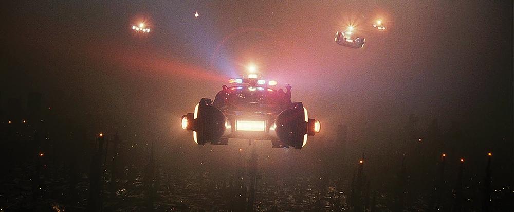 Police Spinner from a scene in Blade Runner