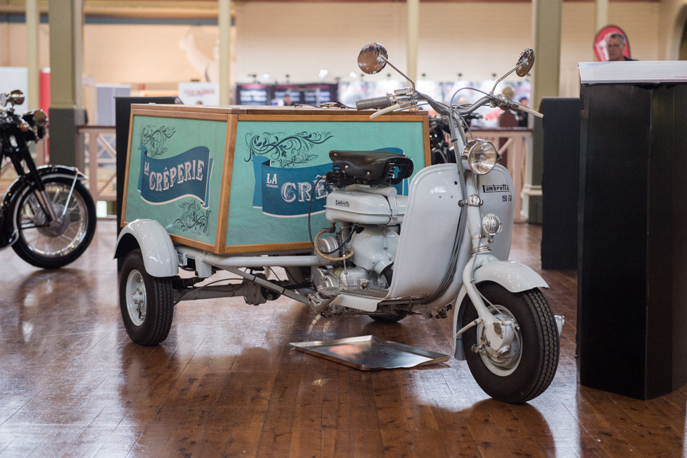 There's always something offbeat and different tucked away, like this Lambretta crêperie trike.