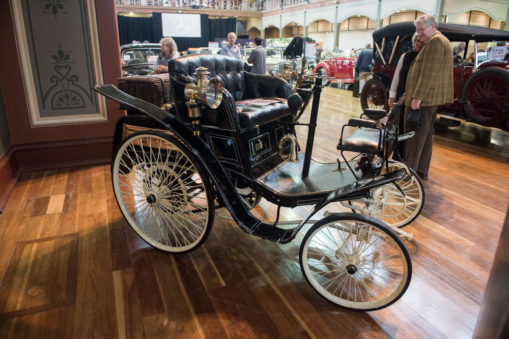 1896 Benz Velo. What a treat to see such an historical vehicle.