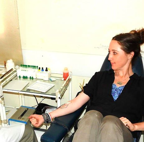 Eva Bartlett/Facebook; Darovanje krvi v Siriji