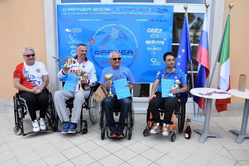 Tekmovanje invalidov v apneji.