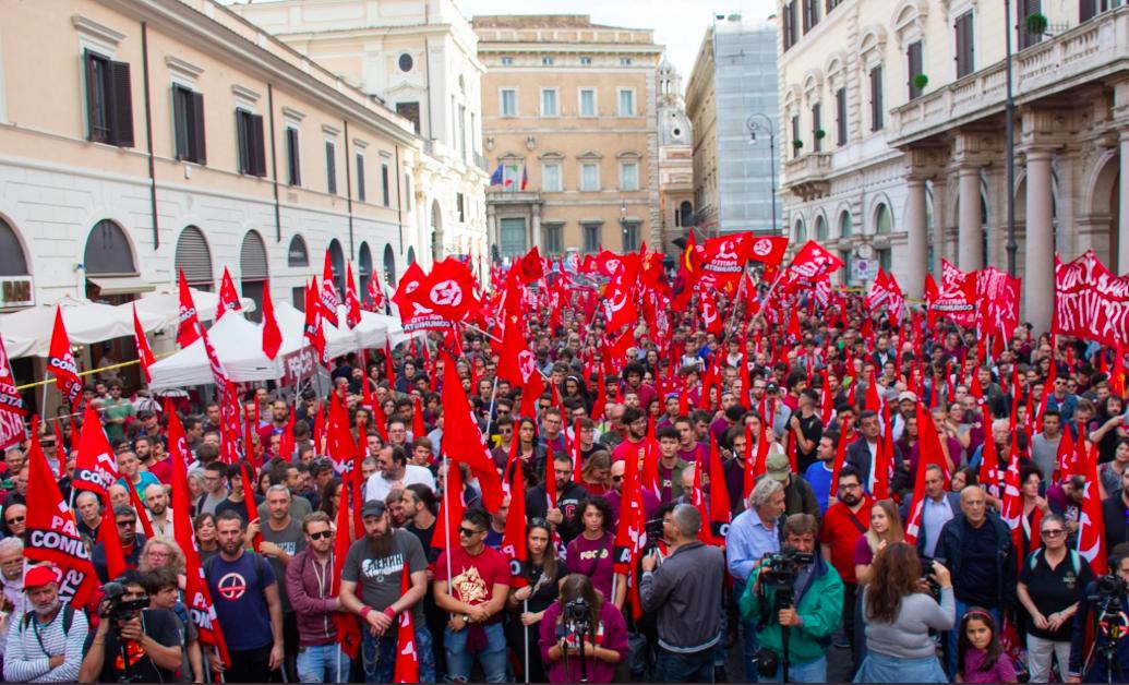 Komunistični protest v Rimu