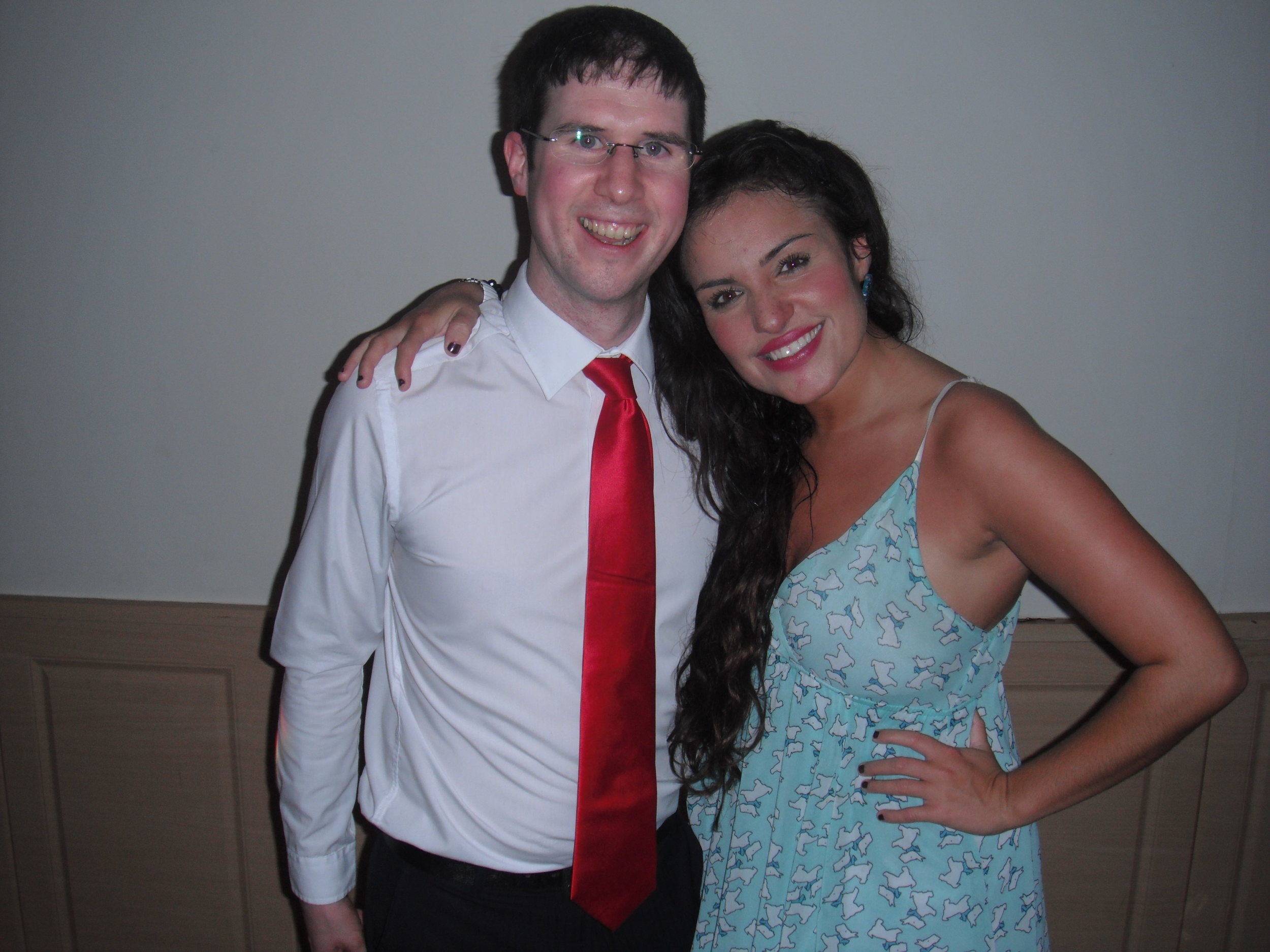 Smitten looking Adam Carr with Laura White from The X Factor at a Wedding in Wales taken after sound check.