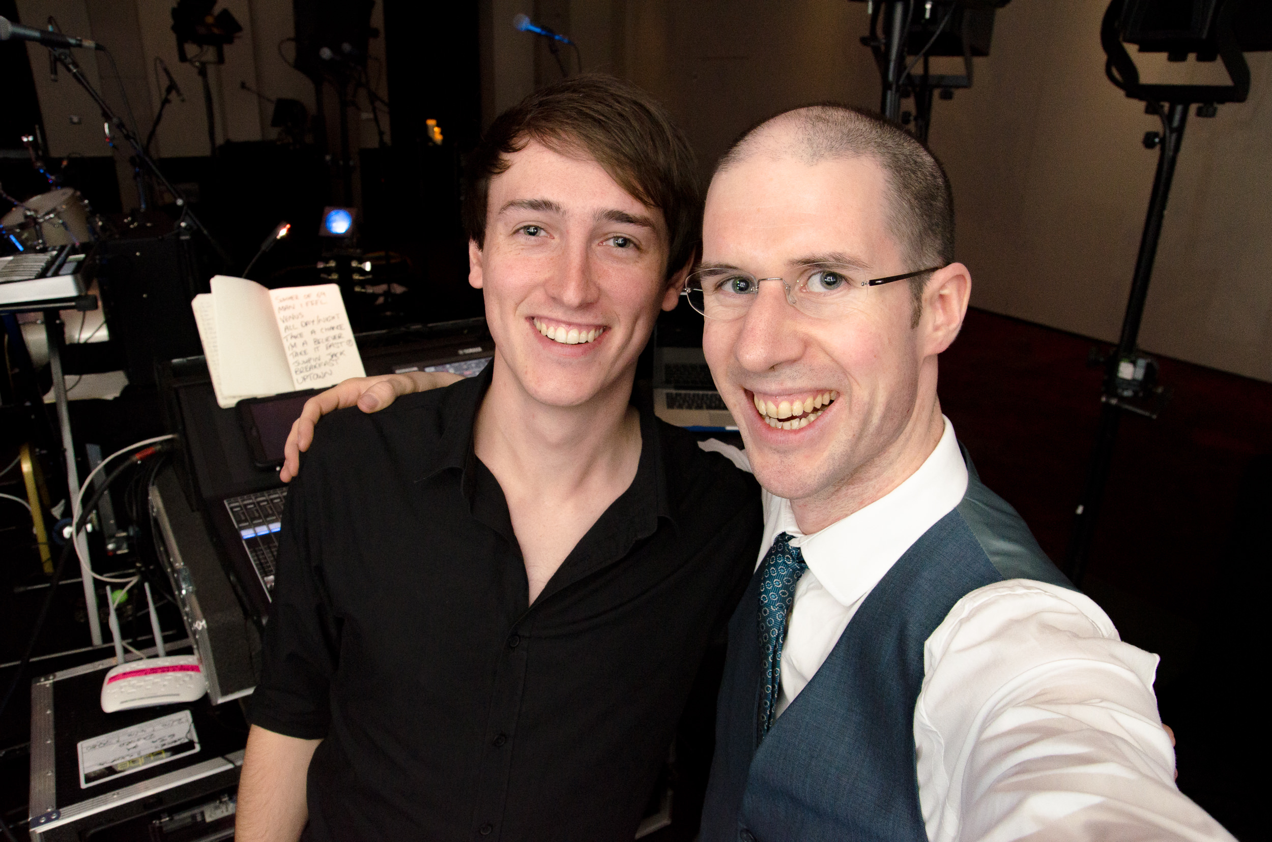 Adam from Tube with Wedding DJ Adam Carr.