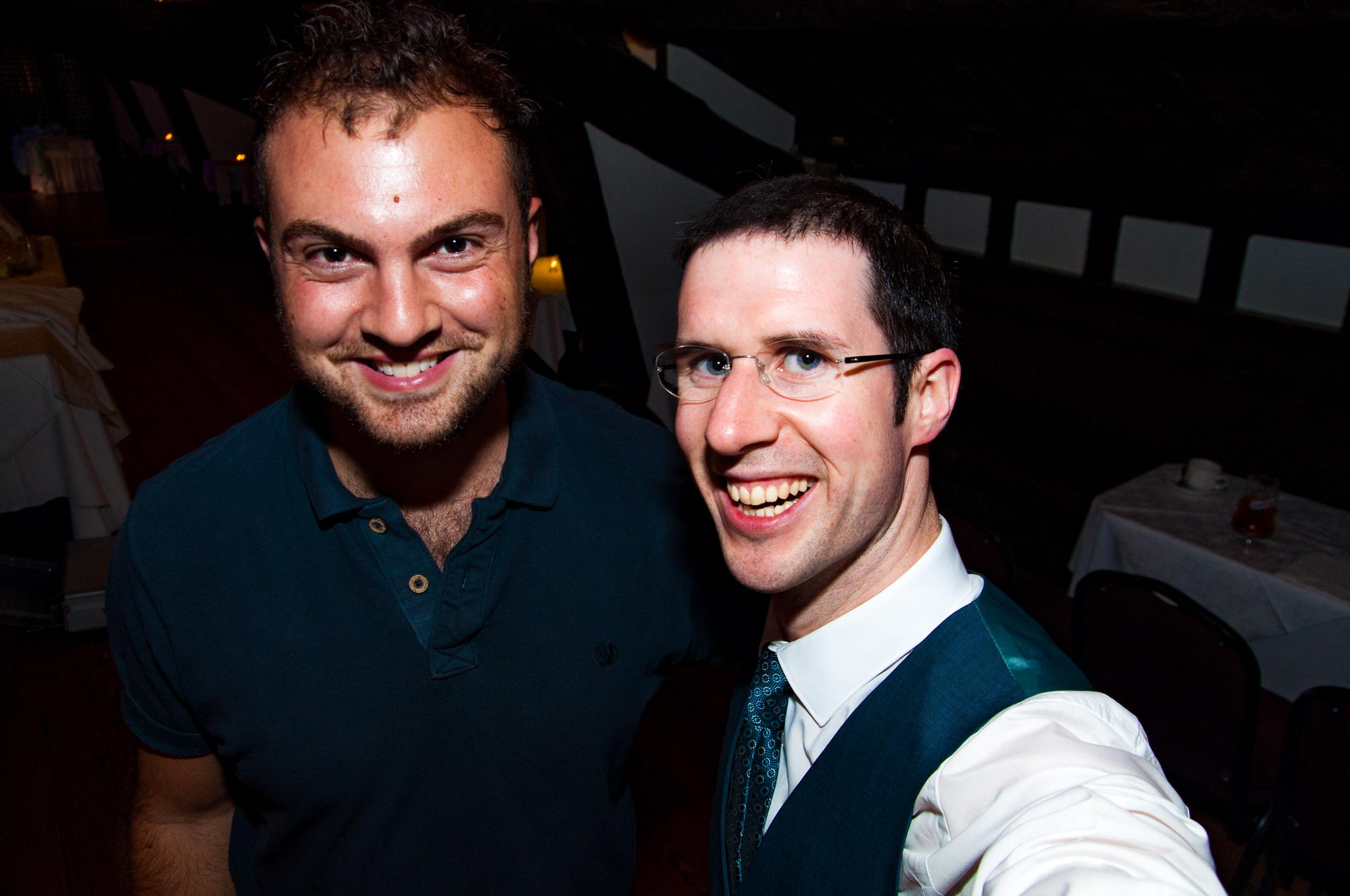 Nick English and Adam Carr at Rivington Hall Barn