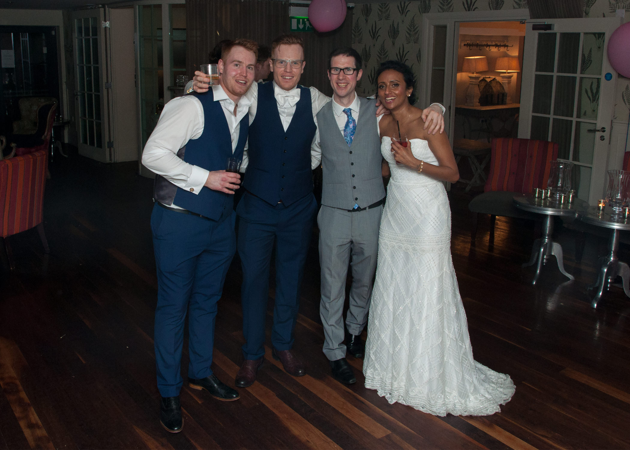 Wedding DJ Adam Carr with Liam and Thilo at Great John Street.