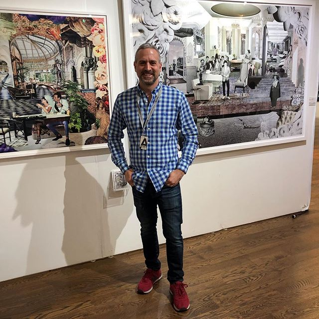 "Thank you to @thedirectedartmodern for featuring my work in ""Mostly"" Monochromatic, Memory, and Meditation @scopeartshow along with artists @begomsantiago @dominikschmitt.art @joeginsberg_  #tbt #armoryweek #scopenewyork #ditectedartmodern #gallery #artherapy #nostalgia #optimism #surrealism #collage #workonpaper #paperart #design #interiordesign #wedding #barmitzvah #newyork #stevenrudinart"