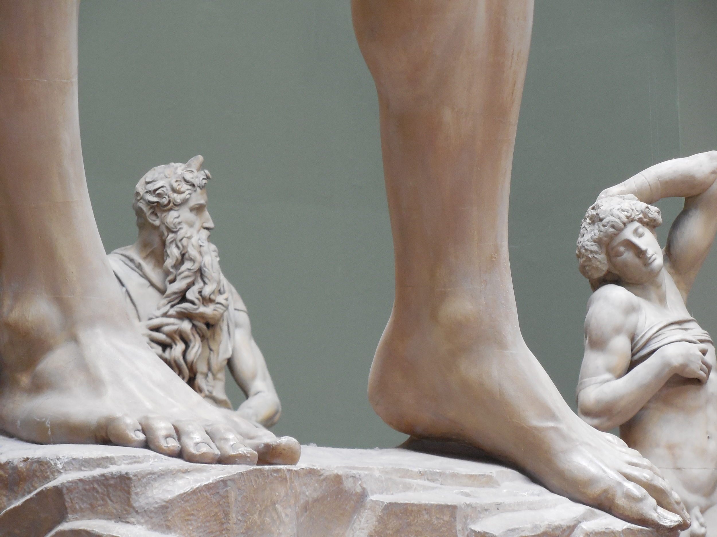 Michelangelo's Moses,Dying Slave and the feet of David