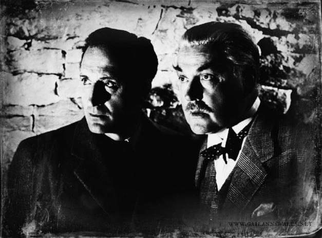 Basil Rathbone and Nigel Bruce as Sherlock Holmes and Dr. John Watson