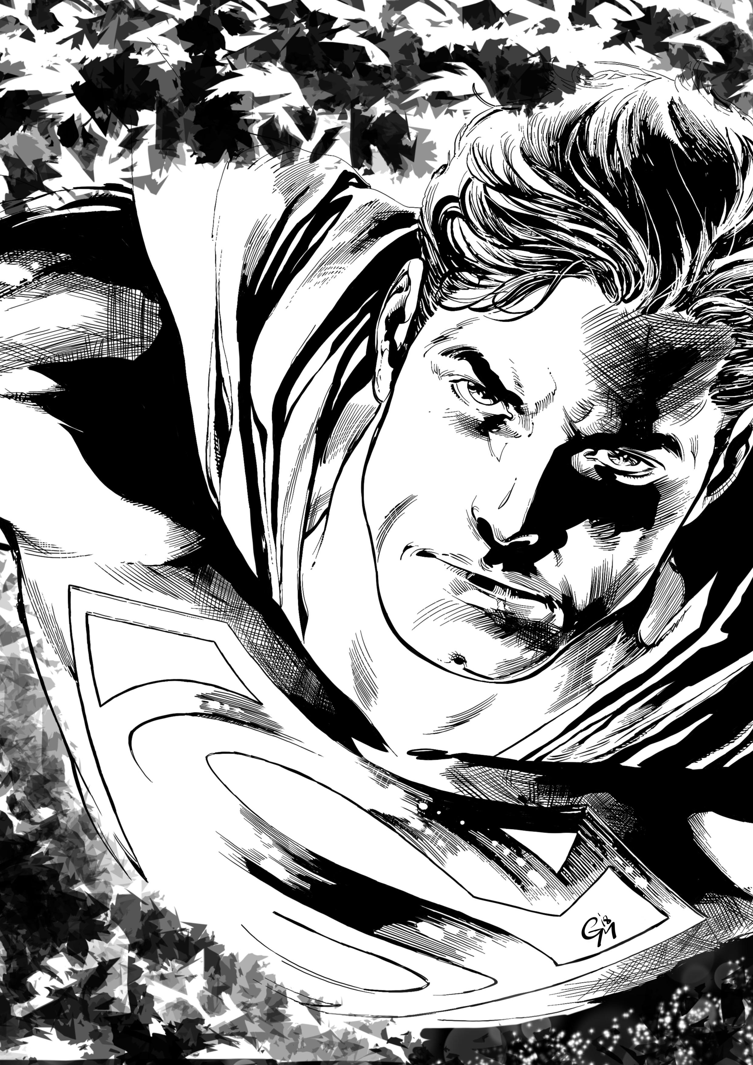 Superman - My inks over Ivan Reis' gorgeous pencils
