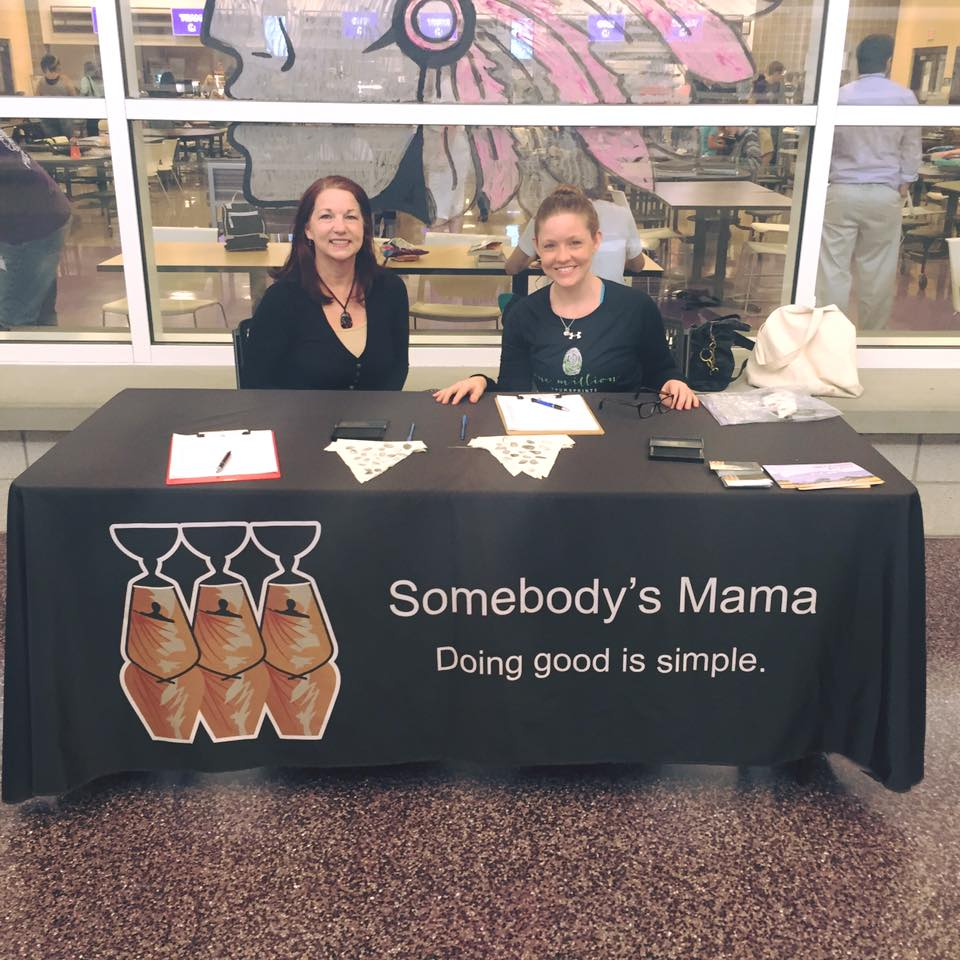 Me and my mama collecting thumbprints at Mascoutah High School