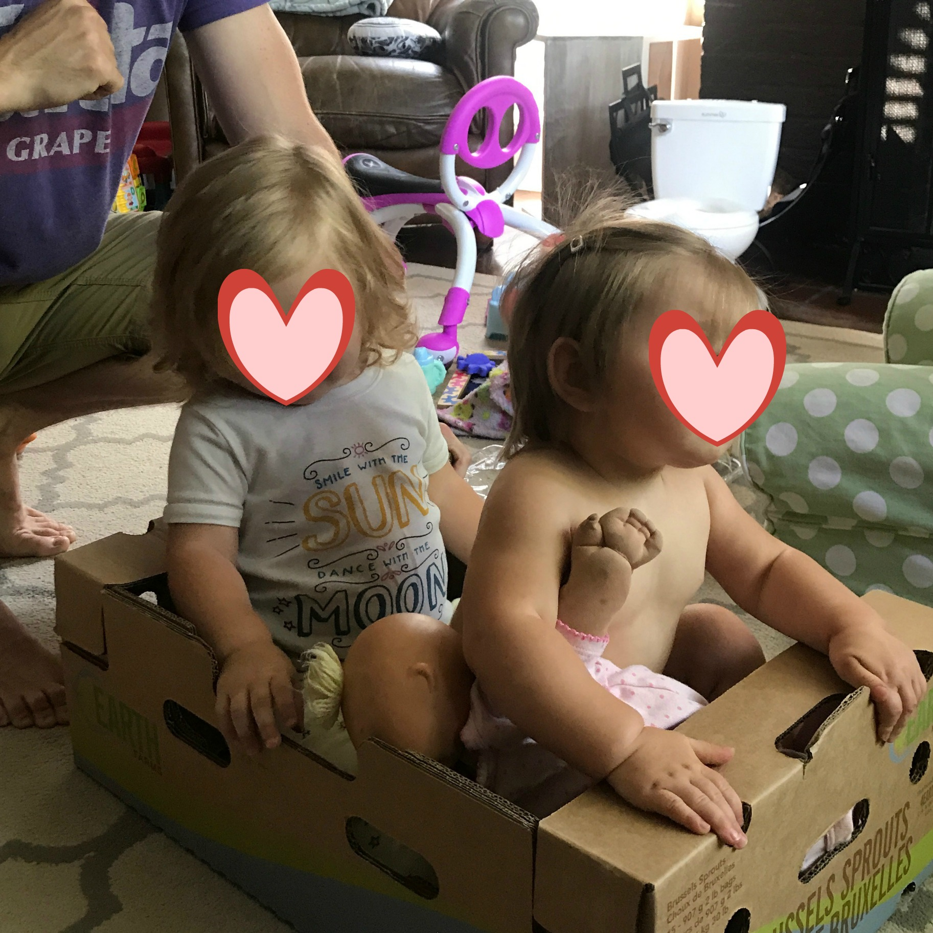 Everyone's favorite day--Costco day when we get lots of new toys like this fabulous box!