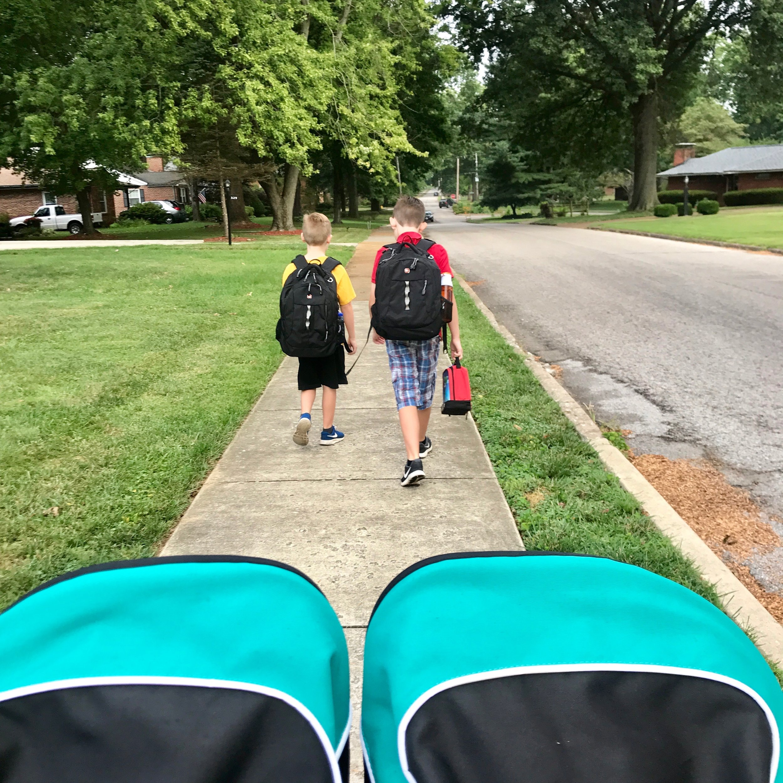 We are loving the cooler temps and walk to school most days still.