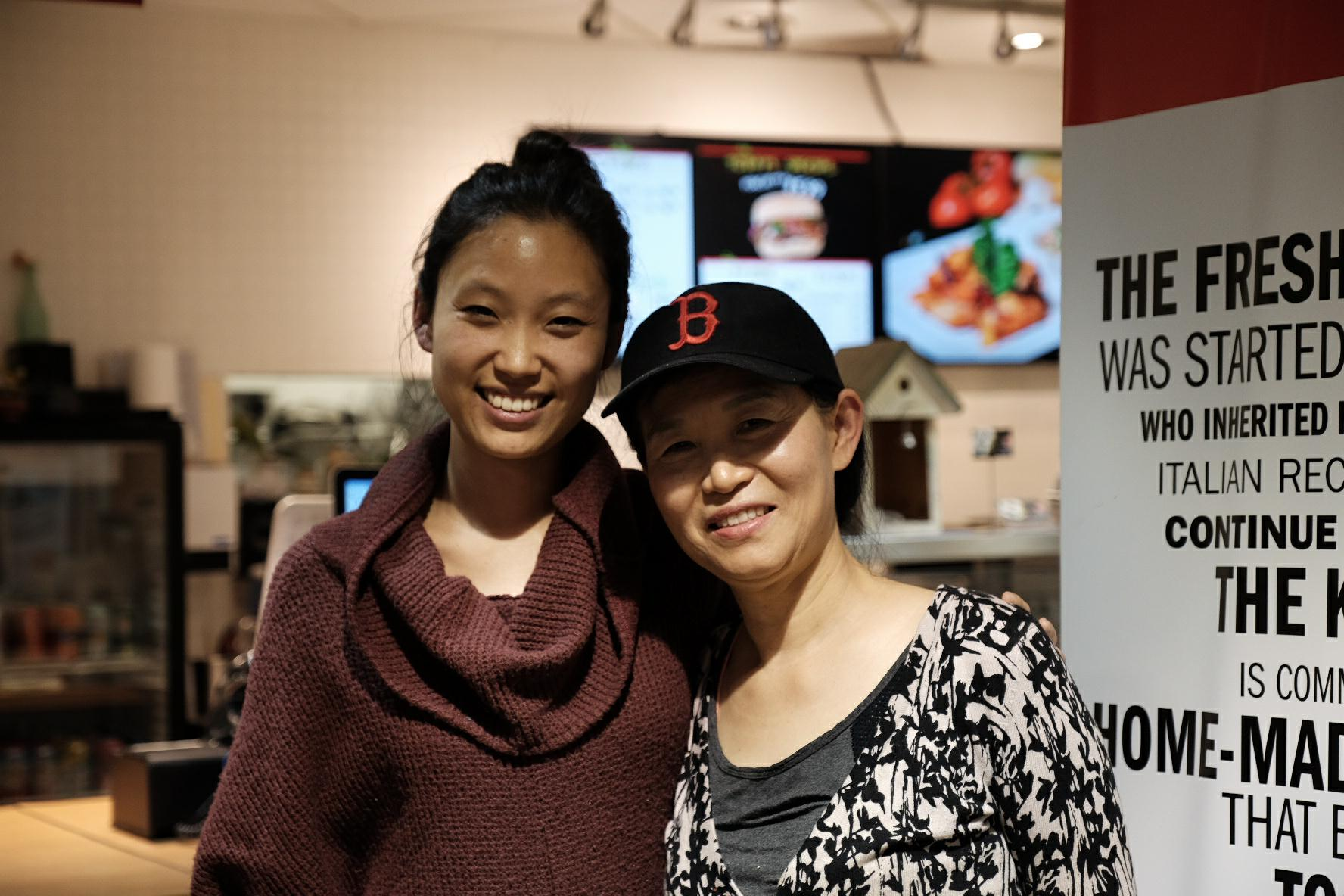 Shilbee Kim with her restaurateur mother Emily Kim