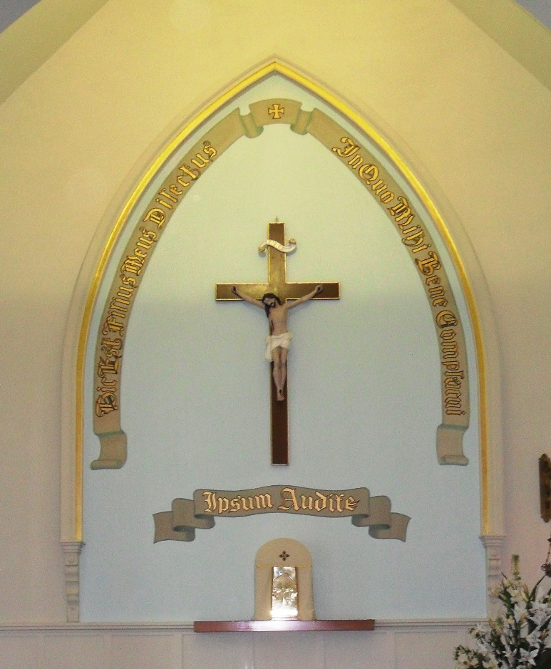 Interior Restoration: Altar restoration, St John the Baptist Church, Parnell. Partly repainted and regilded in a rich 23kt gold.