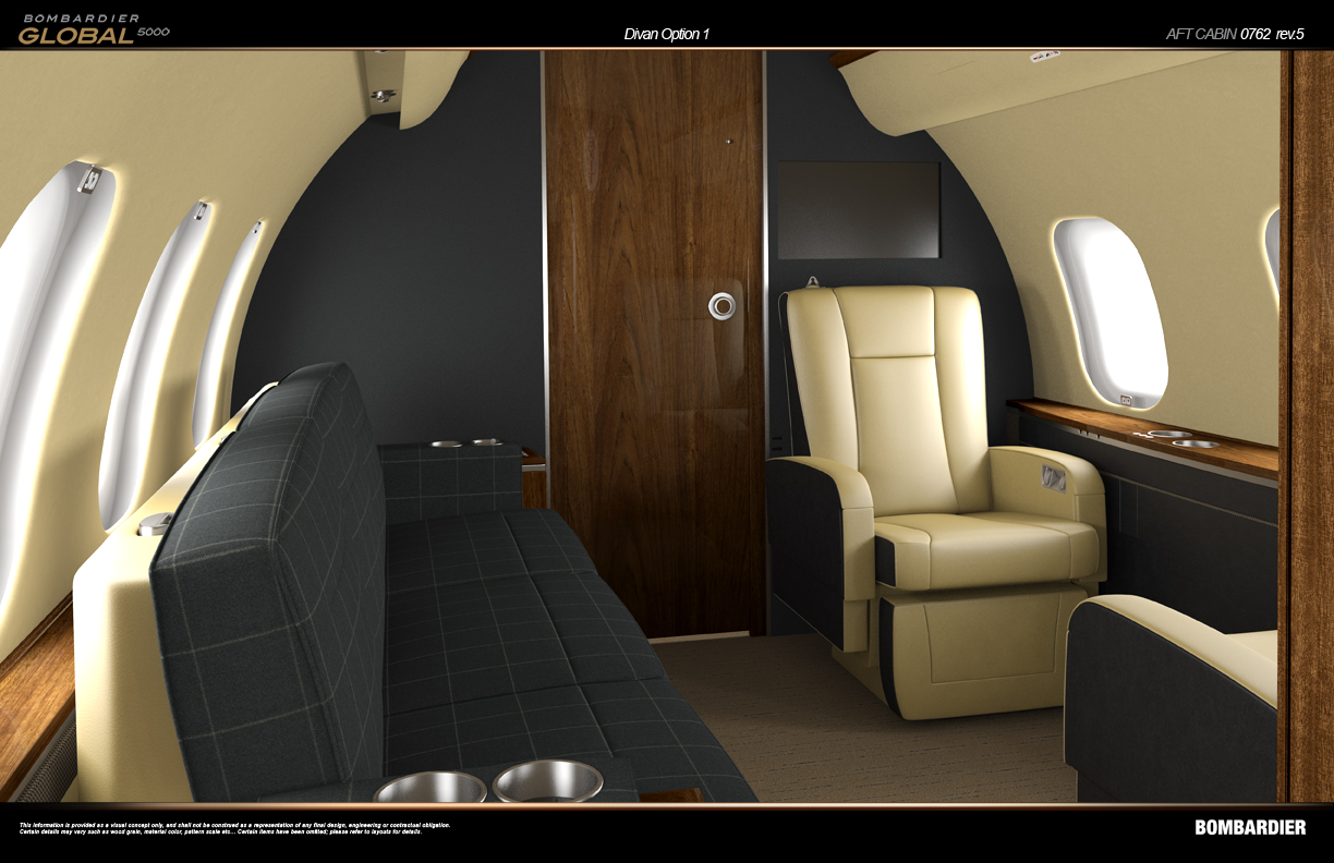 KKM Design Group has designed numerous interiors for private aircraft.