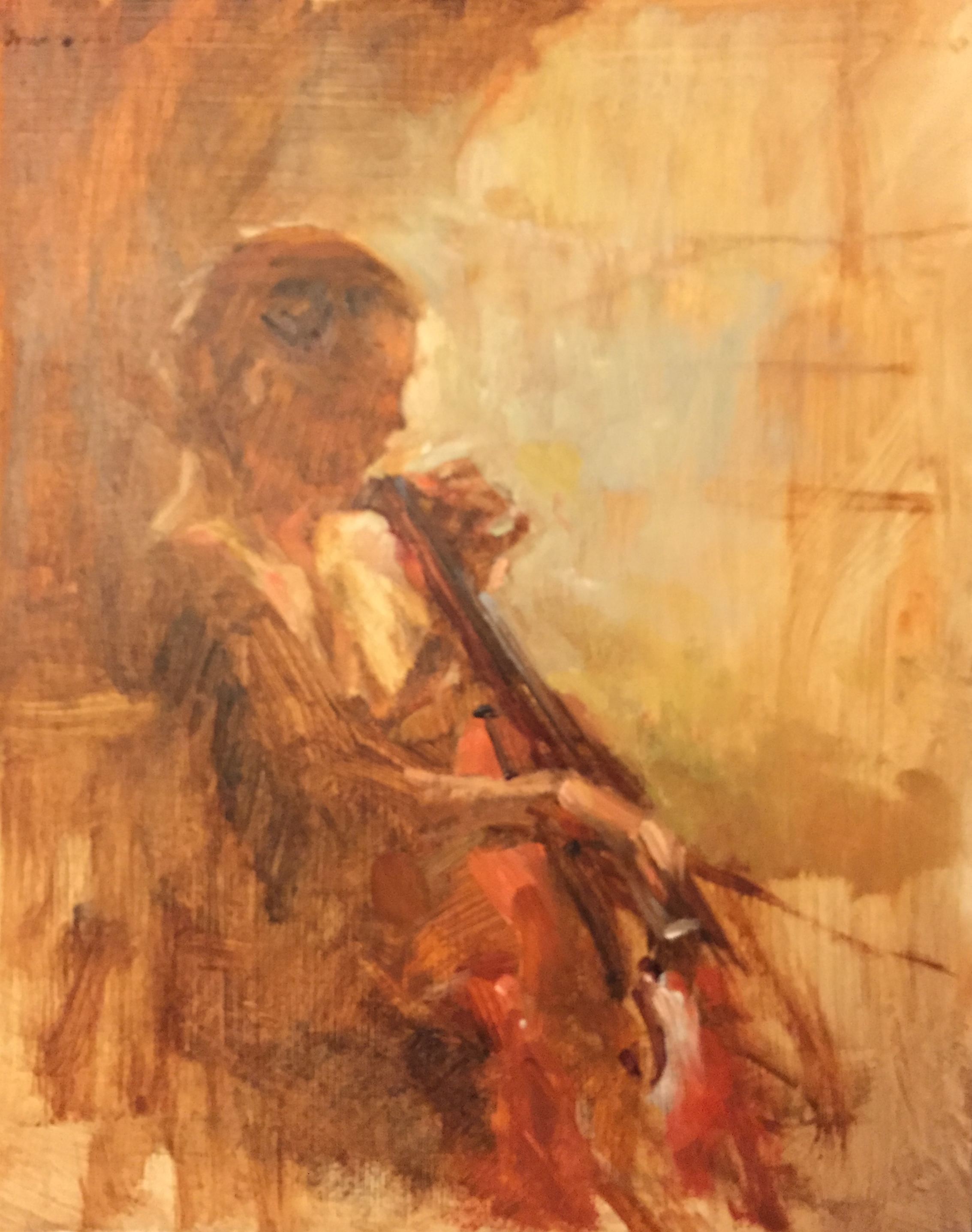 Bach Cello Suite #1, Ruth at the Madelène
