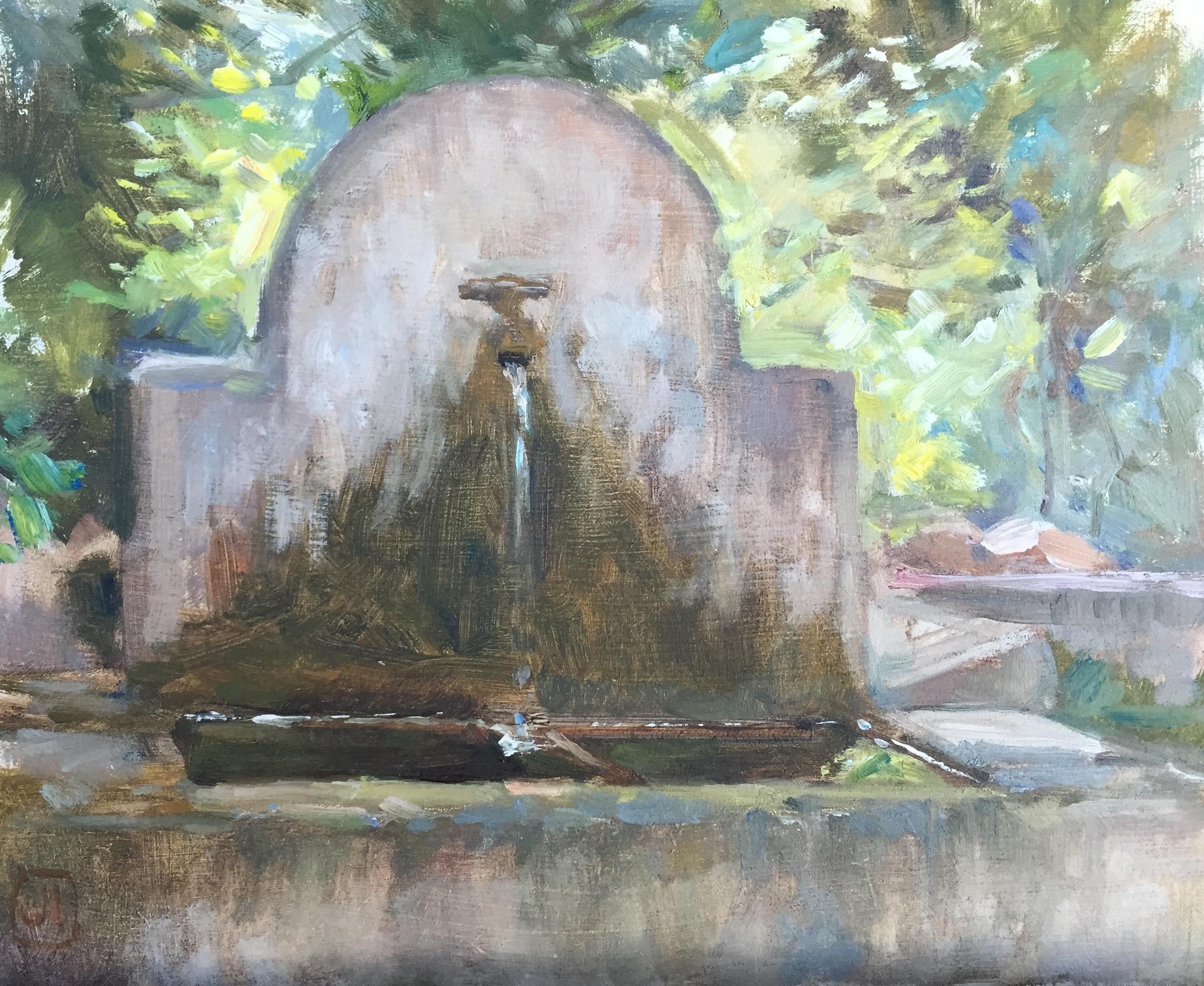 Courtyard Fountain, La Madelène