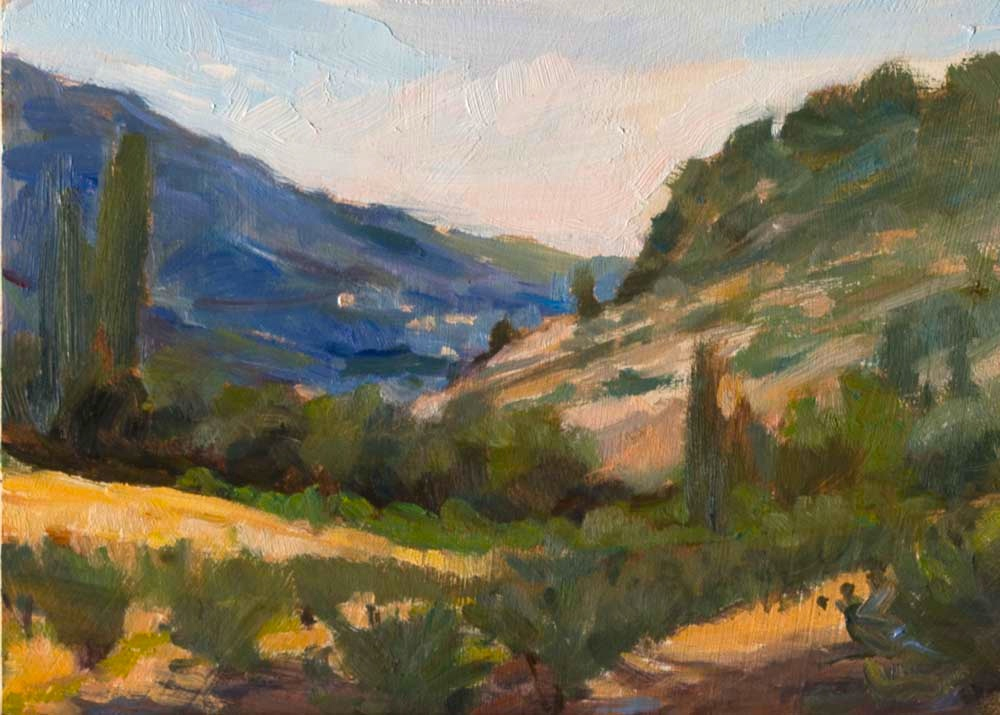 View to Le Crestet, Provence