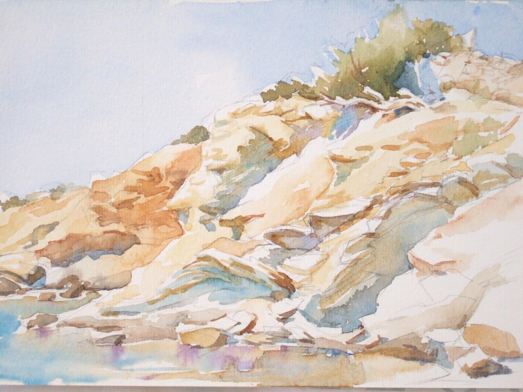 Faragas Beach Cliff, Paros