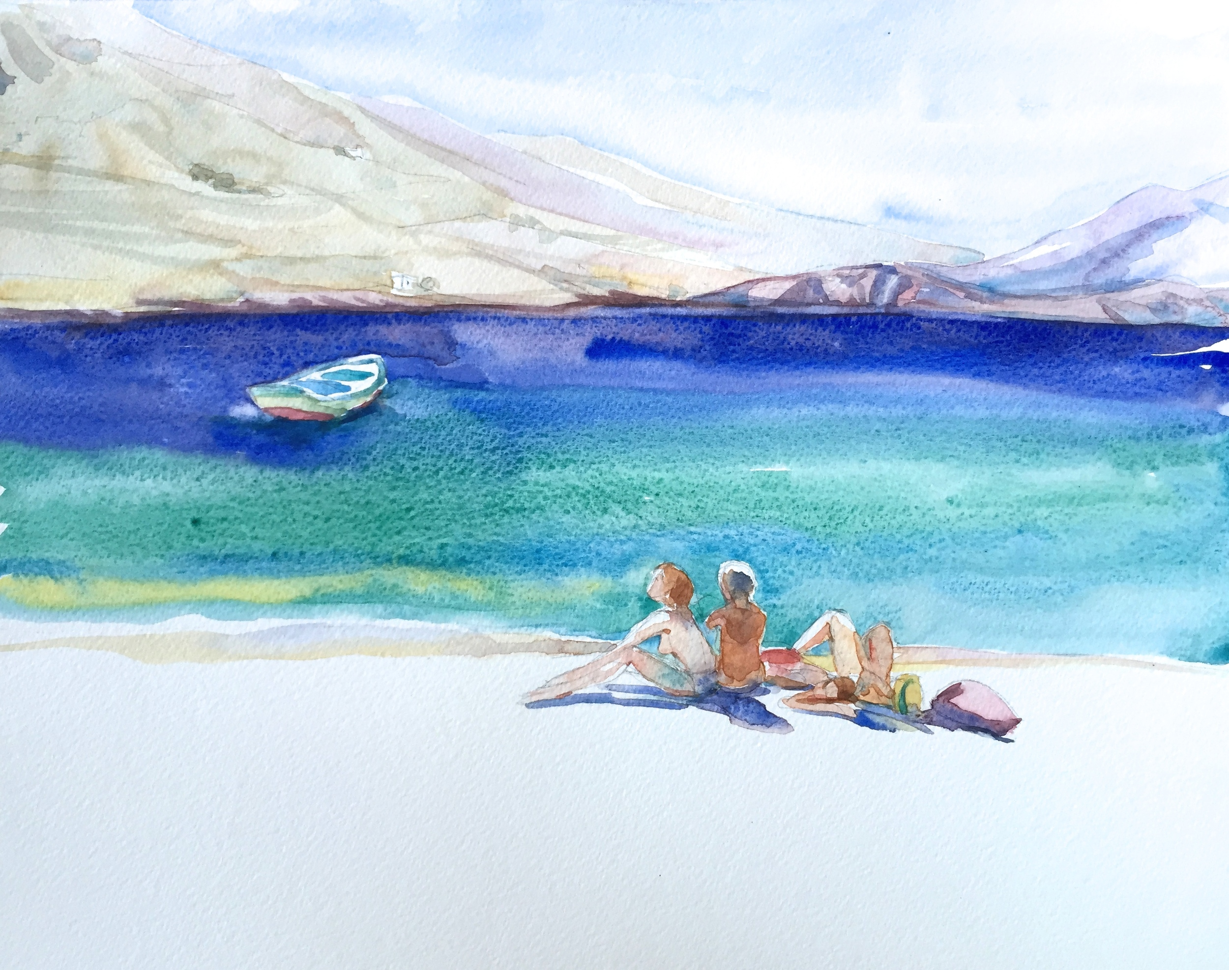 Friends on the Beach, Amorgos