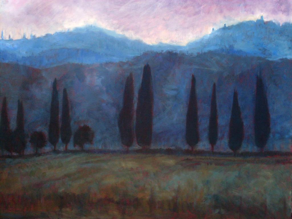 Montalcino, La Sera