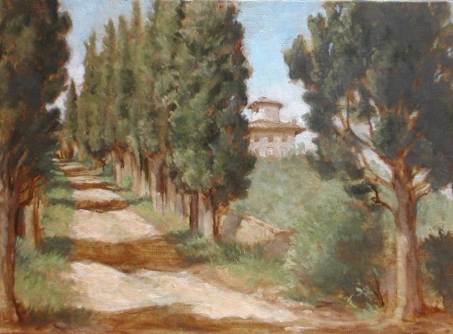 The Path to Villa Corsini di Mezzomonte