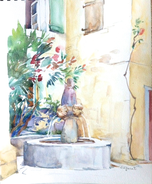 Village Fountain, Séguret, Provence