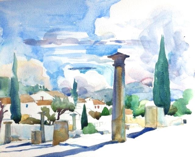 Roman column in Vaison-la-Romaine, Provence