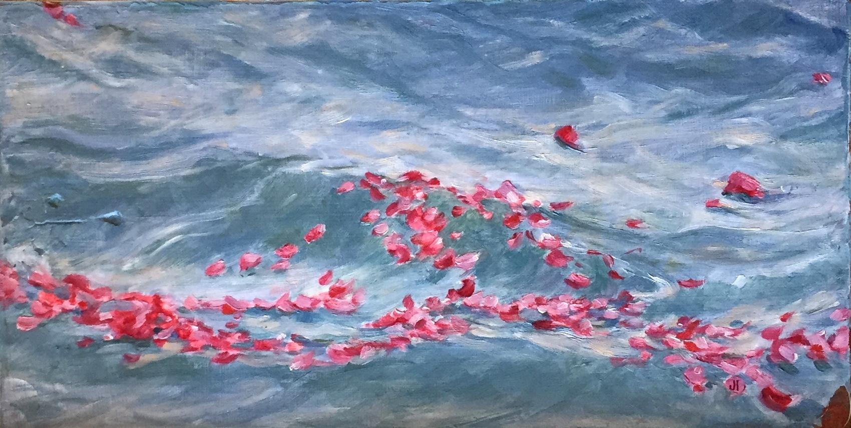 Rose Petals on the Ganges, Rishikesh