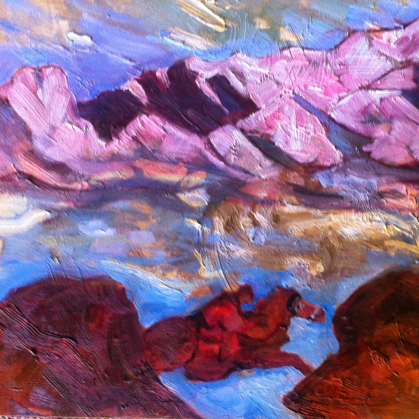 The Messenger, (homage to Nicholas Roerich)