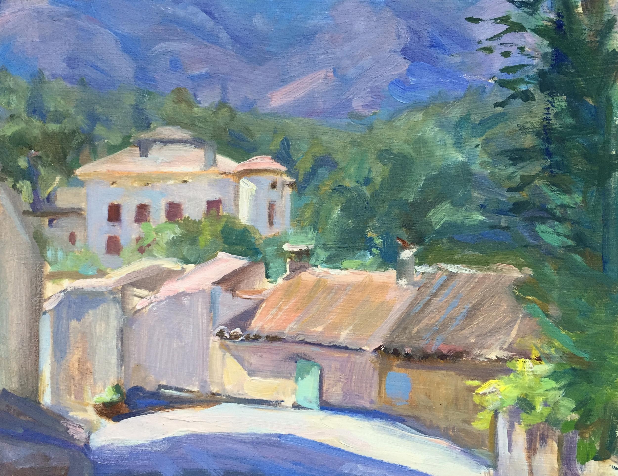 Le Chateau de Picasso, Vauvenargues village
