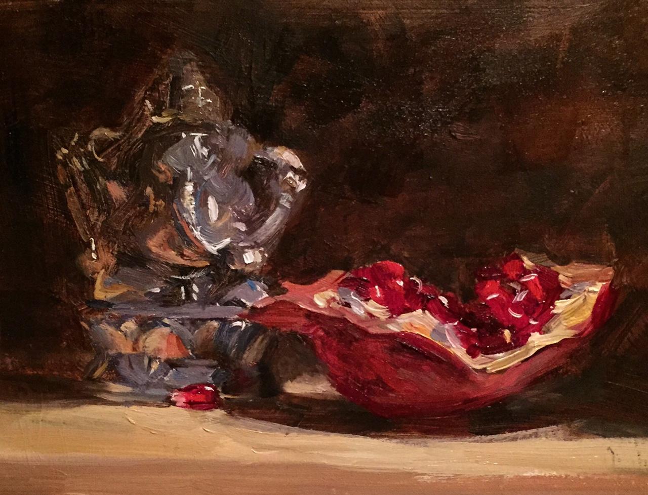 Pomegranate and Silver Ganesha