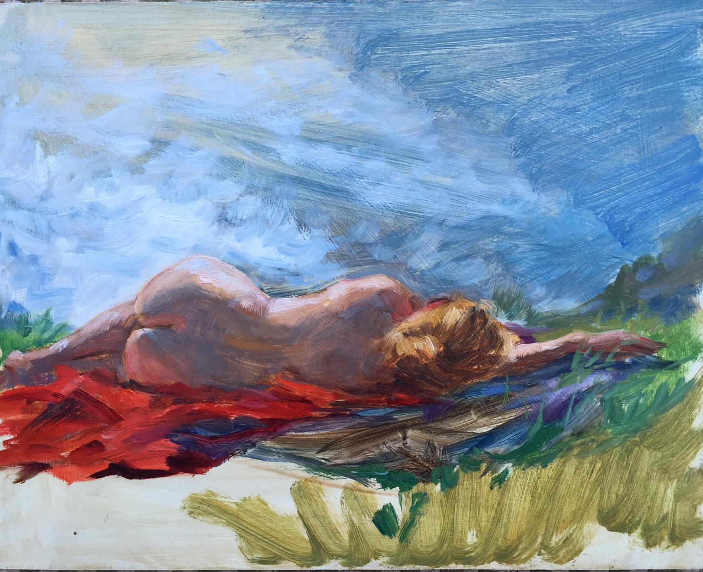Nude on the Ridge, Big Sur