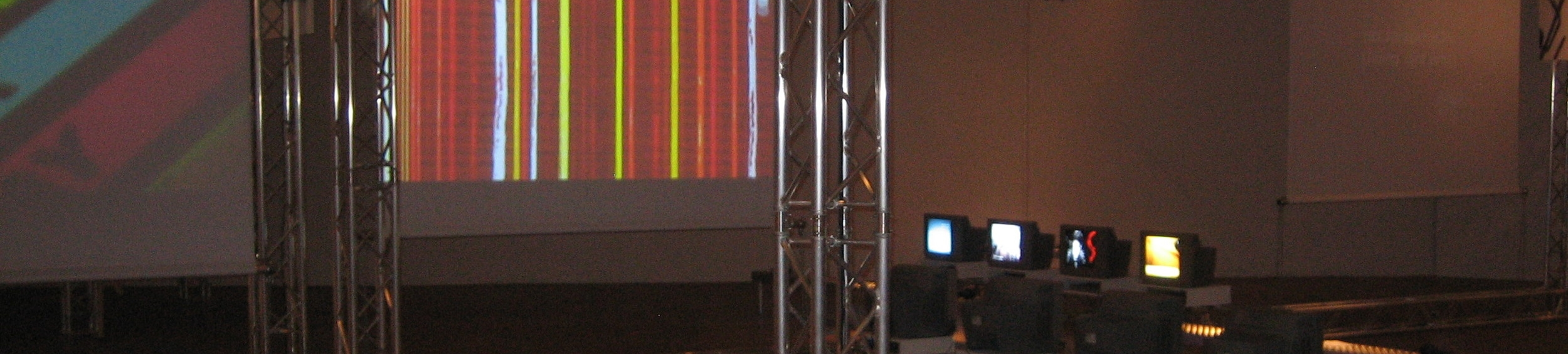 Kotoka Suzuki.  Installation of  Piano Con Moto  (Claudia Rohrmoser, video) at  SoundFrame Festival -   Künstlerhause K  /Haus,   Vienna, Austria.