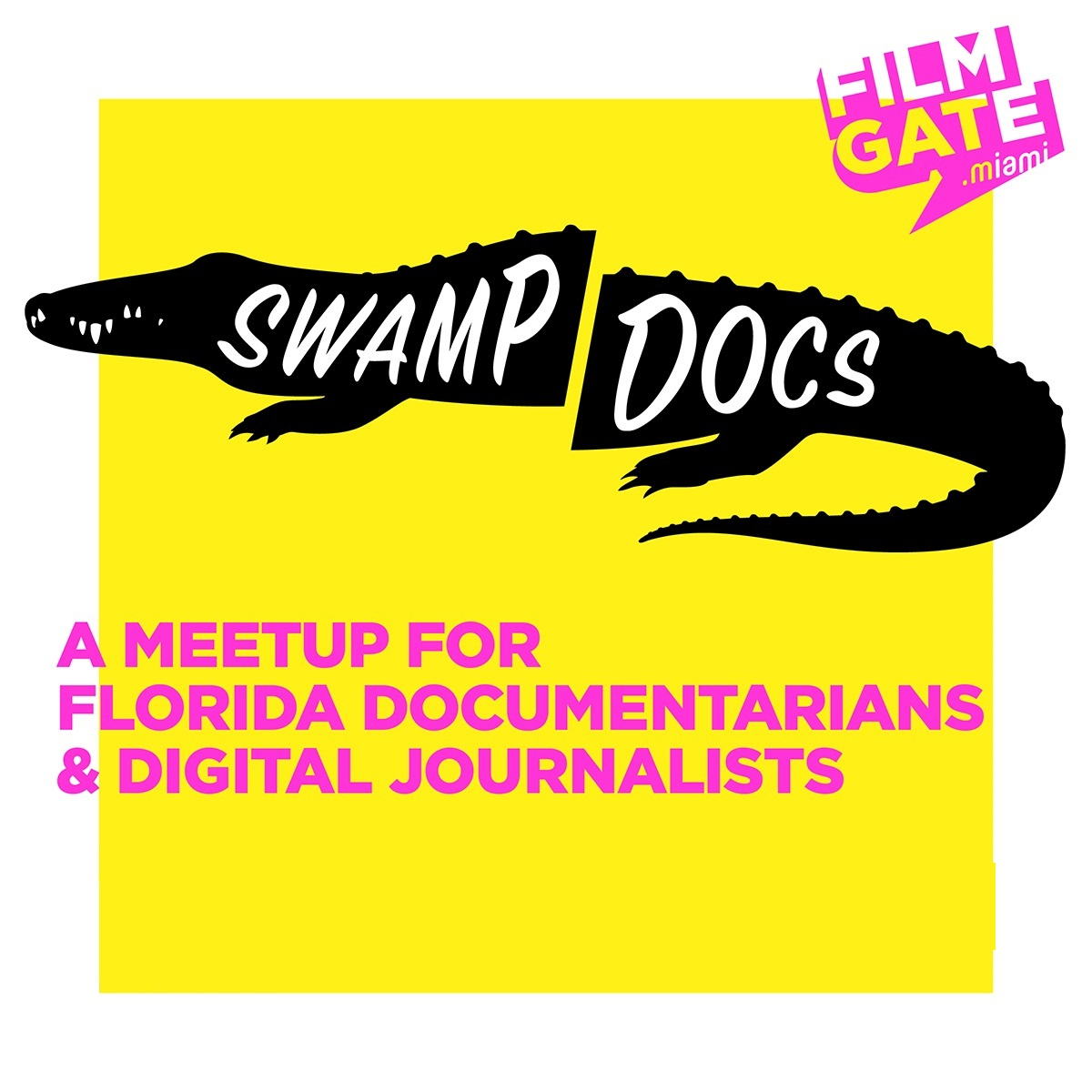Welcome to FilmGate Miami's  SWAMP DOCS  - a conversation series exploring current issues affecting the South East Region of the US. This event provides informative support to documentarians and digital journalists. We at FilmGate Miami are stoked to have this officially open to the public.  The Swamp Docs event features a pitch session segment for projects that need assistance & guidance followed by Trailer presentations by a Florida documentary team or digital journalist with a minor Q&A. The event is then highlighted by organizations seeking to collaborate or team up with emerging documentarians and digital journalists. We wrap the event with networker segment. Meet and collaborate with some of the most important activists in South Florida!     THE SPEAKERS   Juliet Romeo  &  Fernando Migliassi