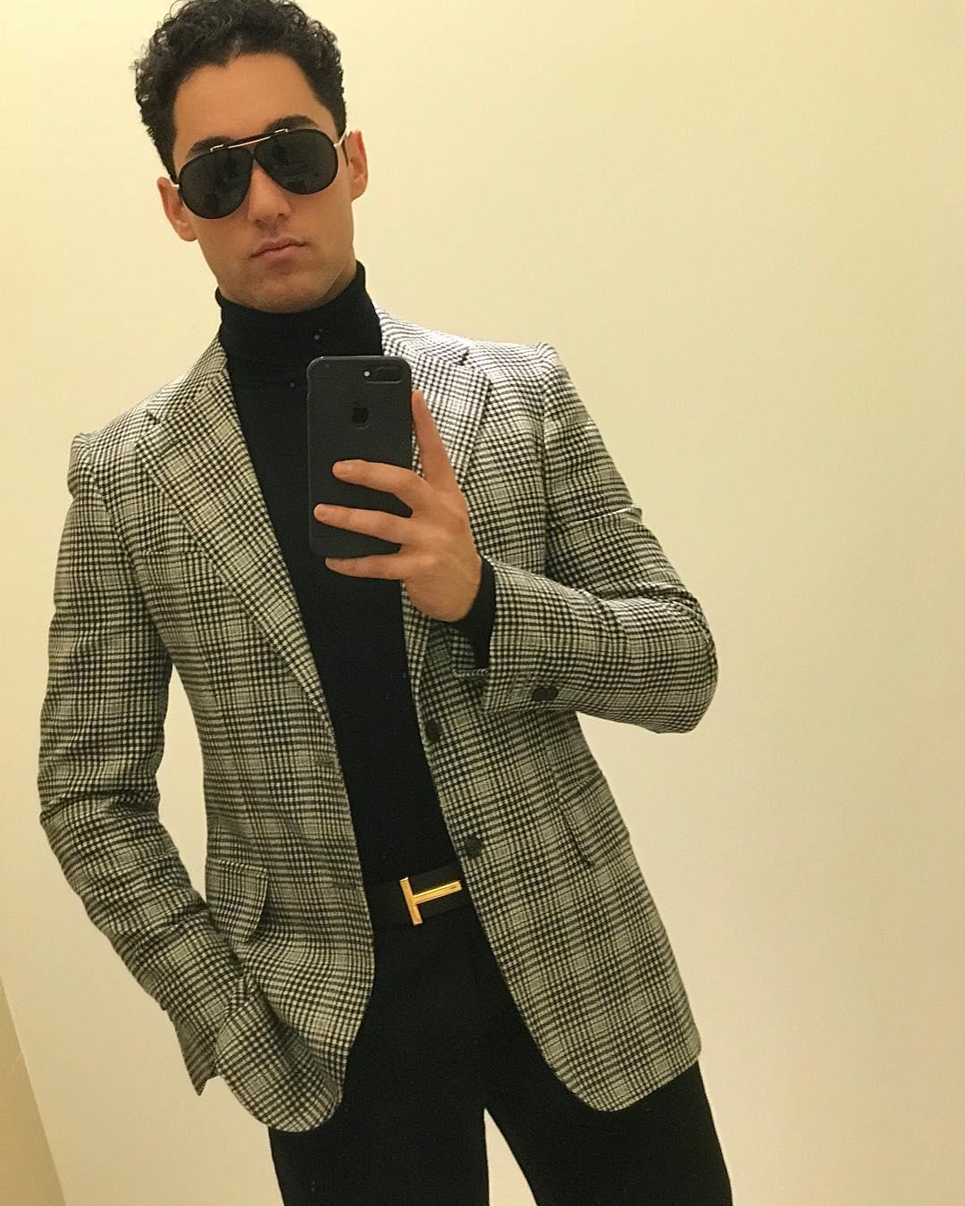 "- RALPH BEHK ""Charles"" Sport Jacket & TrousersBrunello Cucinelli SweaterTom Ford Belt & SunglassesLocation: New York, NY"