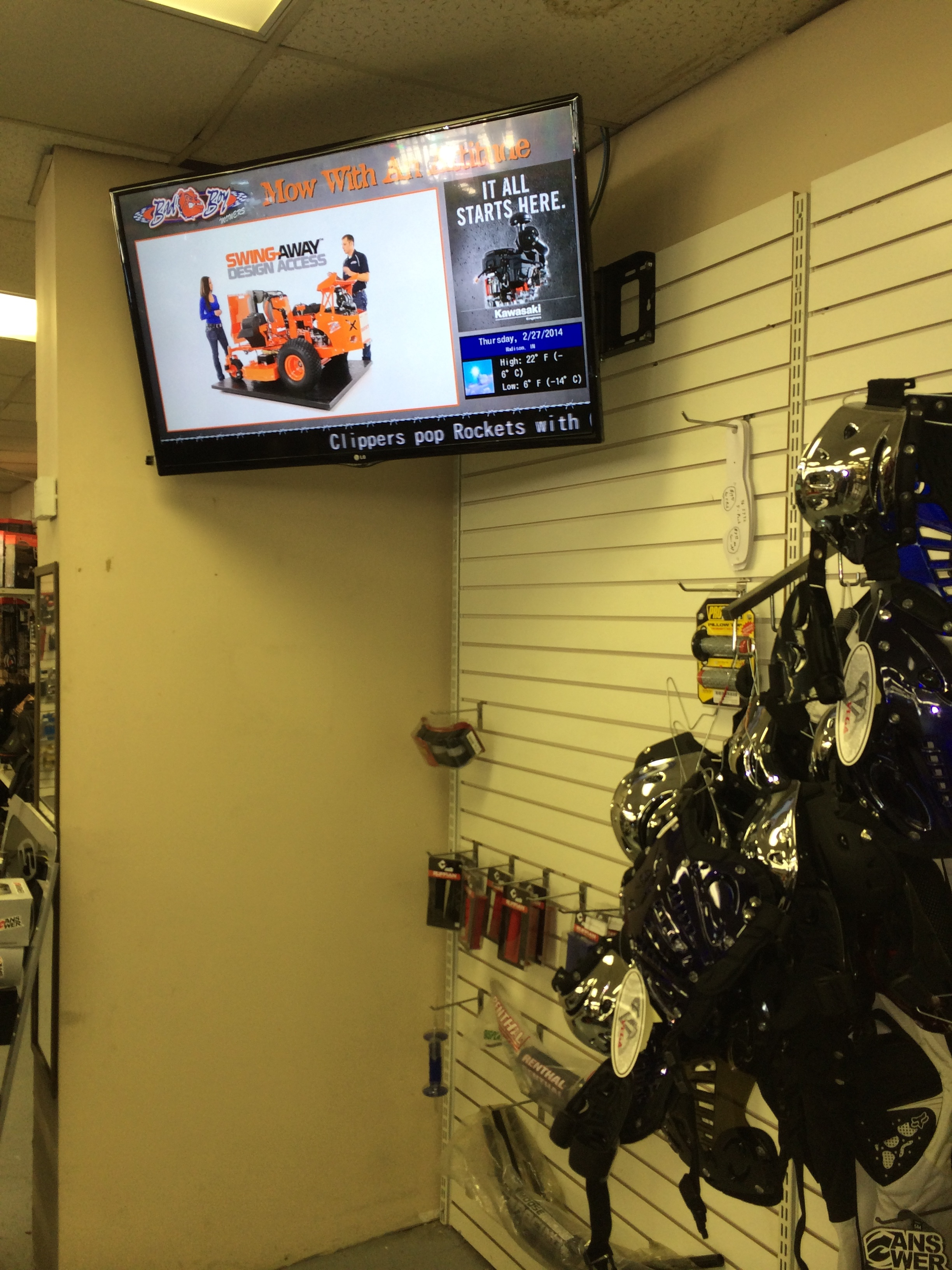 Digital Signage  (Client - Hanover, IN) - Promote your brand globally with a consistent message.