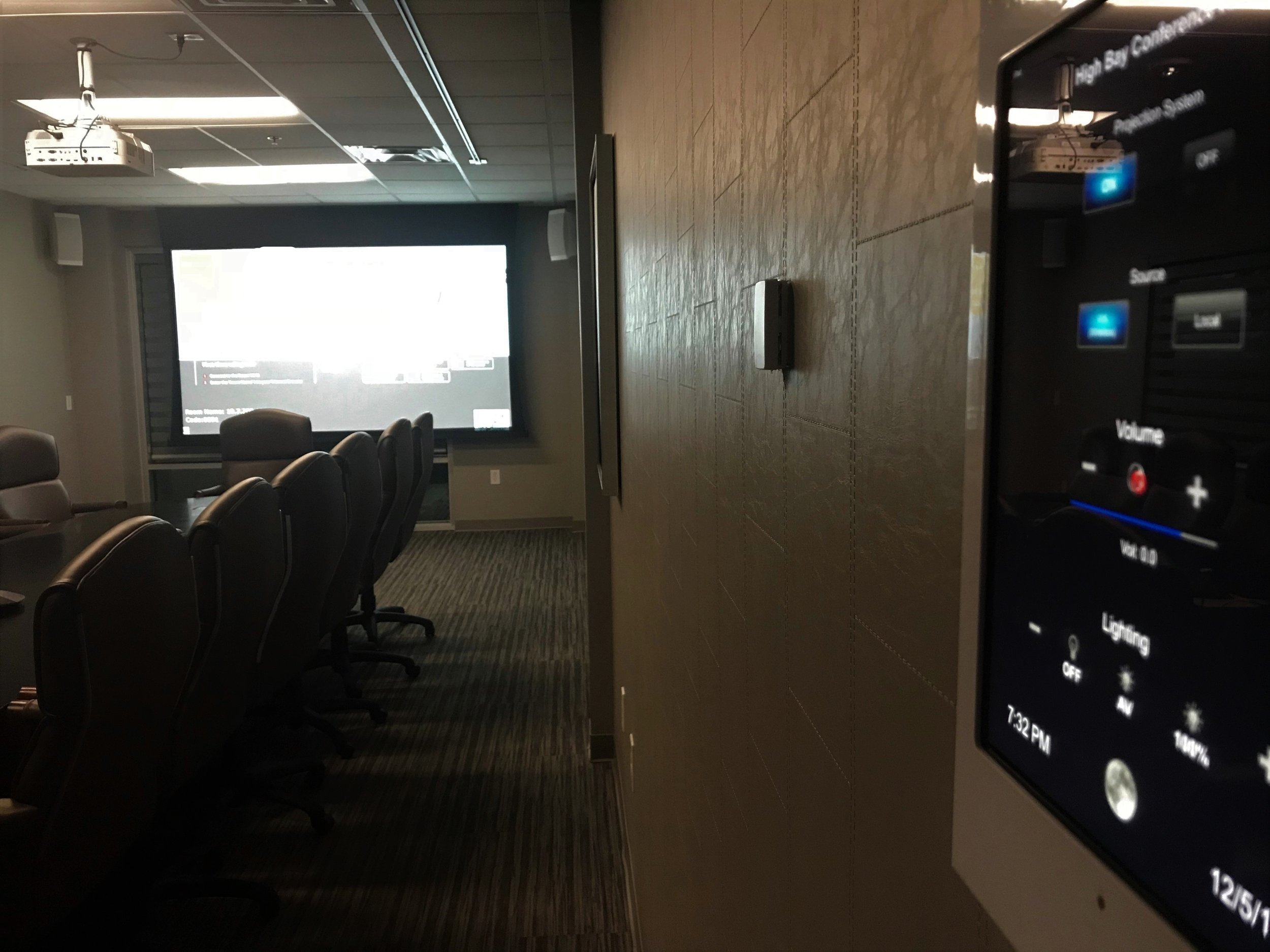 Integrated Meeting Room Control System  - Simplify control of your meeting spaces (Client - Louisville, KY)