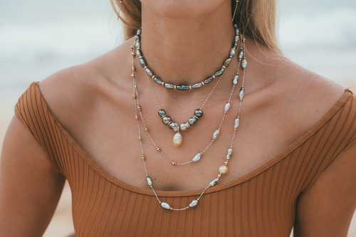 """I made my first puka necklace in 2011 and have not stopped since. My passion for pukas has organically grown into a luxe jewelry line known as ""Puka Perri"". I handcraft each one-of-a-kind piece with the intention of bringing beauty, healing, and good mana (energy) to the wearer."" -Perri"