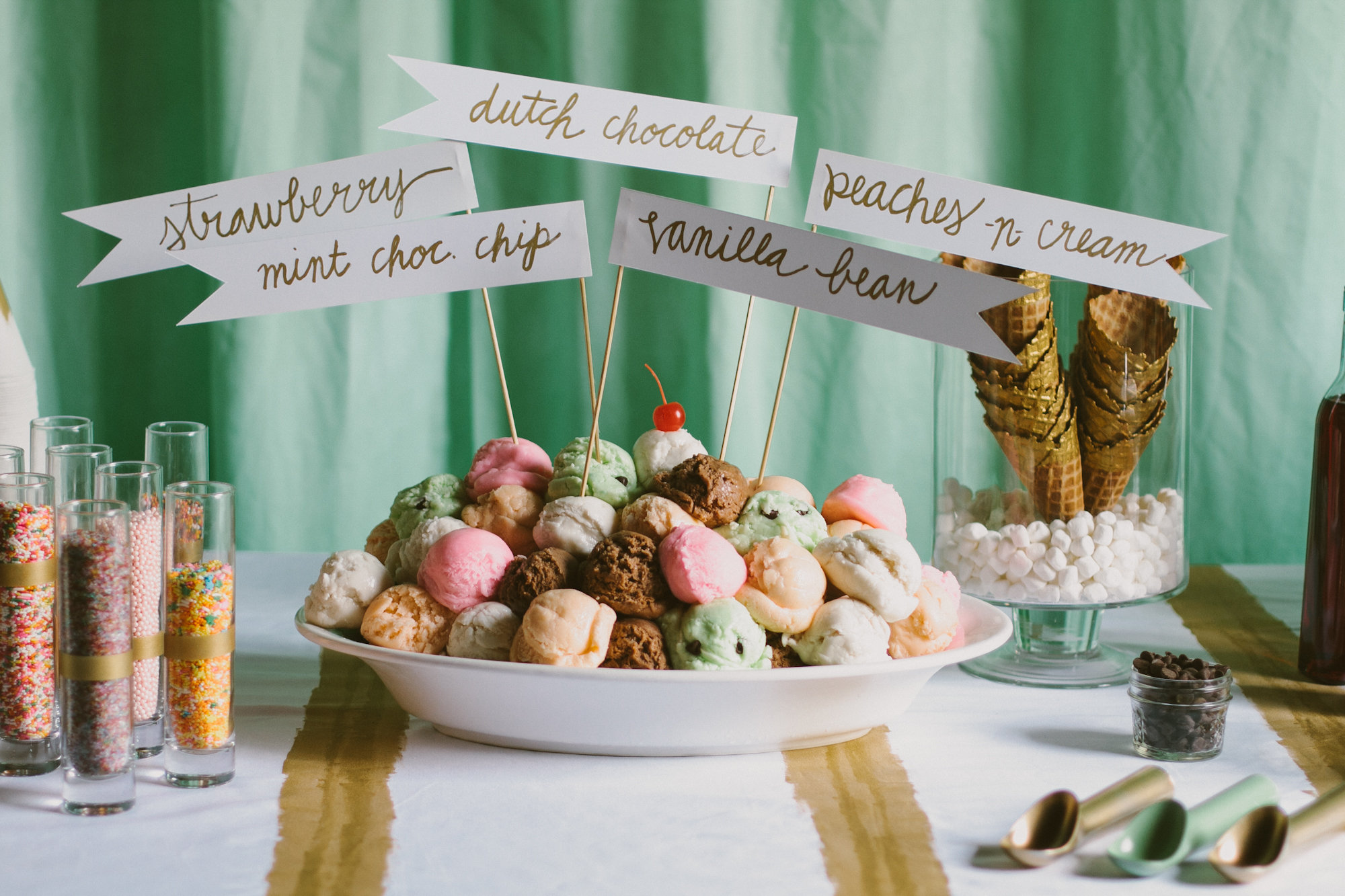 Ice Cream Bar for Mint & Gold Editorial  |  Paige Jones